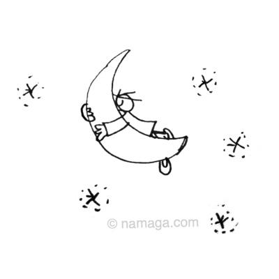 Namaga en la luna